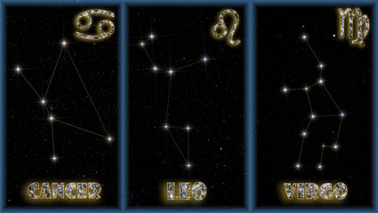 The summer signs of the zodiac