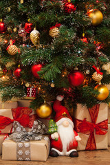 Christmas tree with presents under