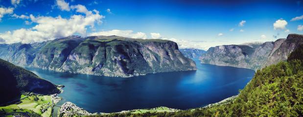 Aurlandfjord Panorama