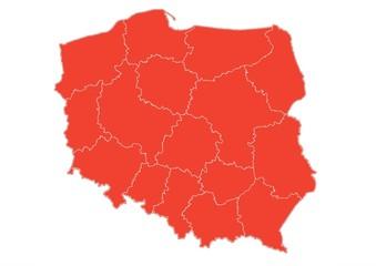 Administracyjna mapa Polski