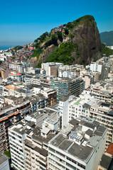 Aerial view of Copacabana district in Rio de Janeiro, Brazil