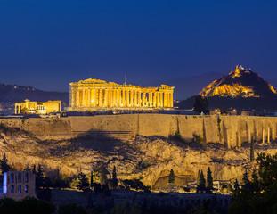 Recess Fitting Athens Acropolis at night, Athens