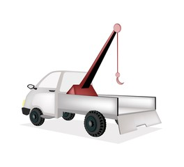 A Wrecker Tow Truck on White Background