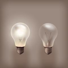 Bulb. Vector format