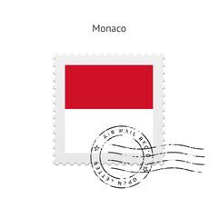 Monaco Flag Postage Stamp.