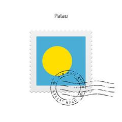 Palau Flag Postage Stamp.