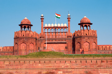 Photo sur Plexiglas Delhi Red Fort in Delhi, India