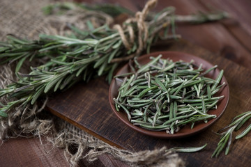 Cooking ingredients: rosemary, studio shot