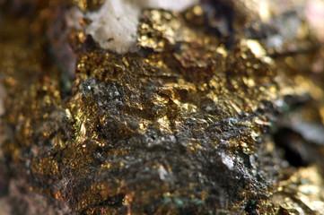 Golden gem background. Macro
