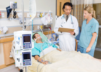 Dialysis Machine With Patient And Doctor