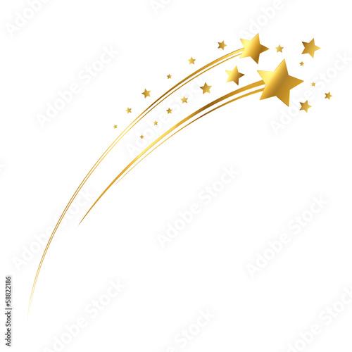 Goldene Sternschnuppe Stockfotos Und Lizenzfreie Vektoren Auf