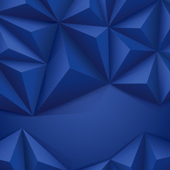 Blue geometric background.