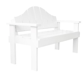 Decorative white modern style wooden chair