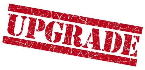 Upgrade red grunge stamp