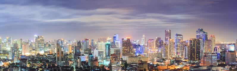 Aluminium Prints Bangkok Bangkok downtown Skyline Panorama