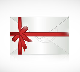 envelope ribbon sign illustration design
