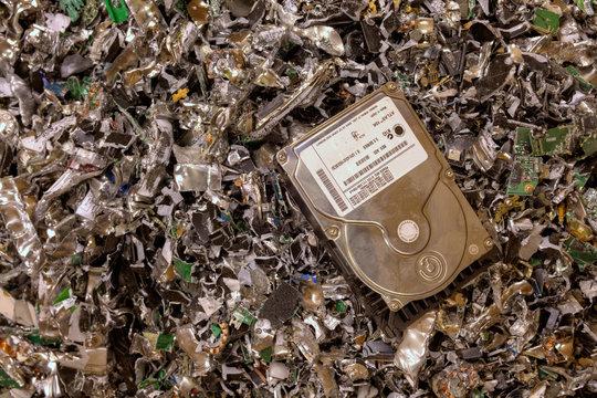 Crushed hard drives