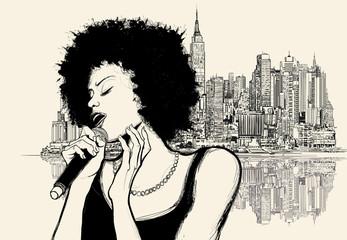 Etiqueta Engomada - afro american jazz singer