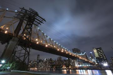 Queensboro bridge at night, New York City