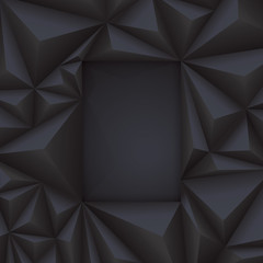 Black geometric background.