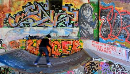graffiti et skatboarder