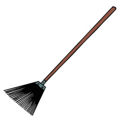 vector drawing of a broom