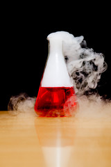 laboratory dry ice smoke