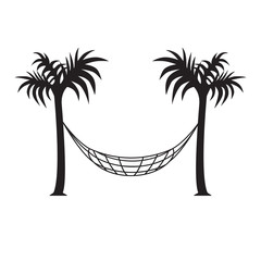 hammock and palm trees