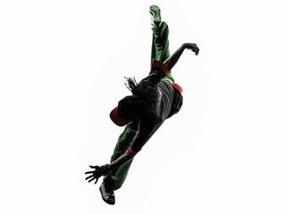 hip hop acrobatic break dancer breakdancing young man jumping si