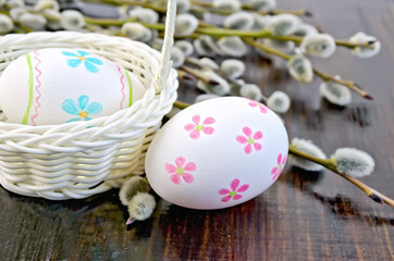 Easter egg painted with a pattern