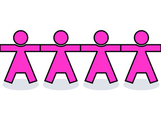 Seamless united women icons