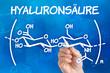 Hand zeichnet chemische Strukturformel von Hyaluronsäure