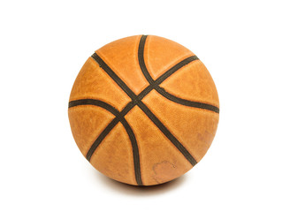 old basketball isolated