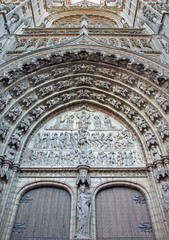 Antwerp - Relief of Last judgment - cathedral