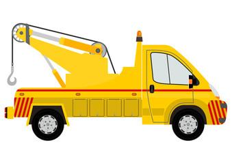 Tow car silhouette