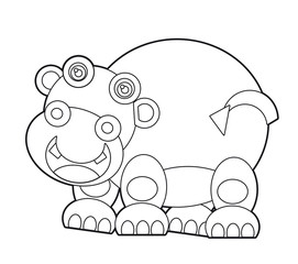 Cartoon wild animal - coloring page for the children