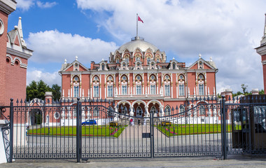 ancient palace in Moscow in the Russian baroque style
