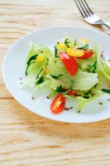salad with fresh lettuce