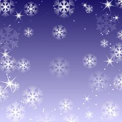Fototapeta White snowflakes on a violet background.christma s background.ba obraz