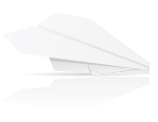 origami paper plane vector illustration