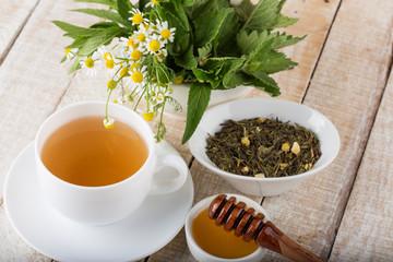 Cuf of herbal tea