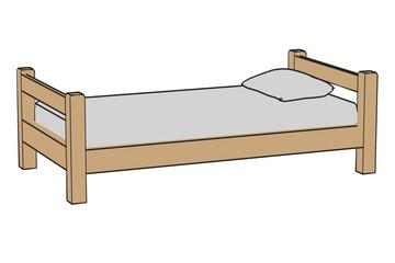 cartoon image of simple bed