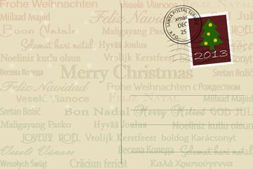 Postkarte mit Weihnachtsgüßen