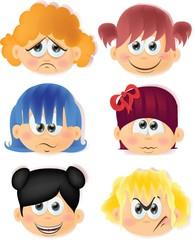 Мультфильм смешной дети с эмоциями