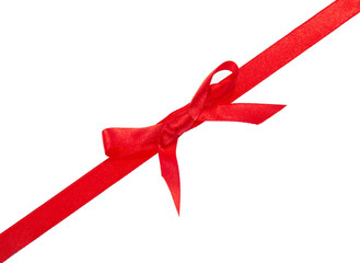 The decorative red narrow tape