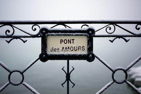 pont des amours Annecy france