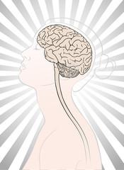 Denken, Gehirn und Frau