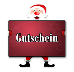 """Weihnachtsposter """"Gutschein"""""""