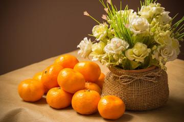 fruit orange and Flower