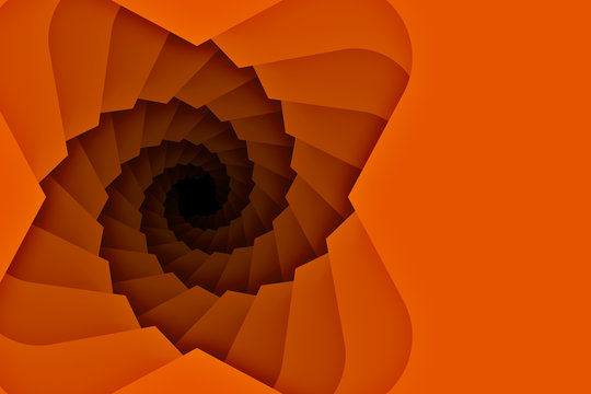 Spiral downward Staircase Background with copy space